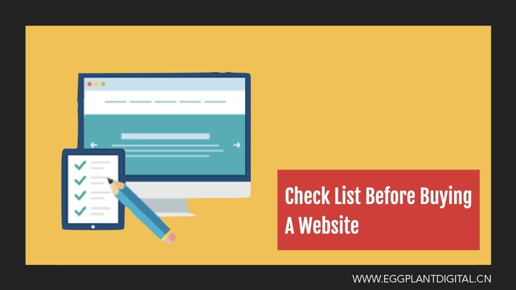 Check List Before Buying A Website – Part 1